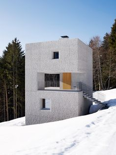 Mountain Retreat, Laterns, Austria by Marte Marte Architects. Photograph by Marc Lins.