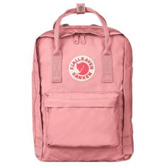 Fjallraven 'Kanken' Laptop Backpack (2.225 ARS) ❤ liked on Polyvore featuring bags, backpacks, fillers, pink, red laptop bag, padded laptop backpack, padded backpack, pink laptop bag and fjallraven backpack