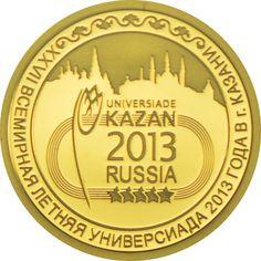 50 Rubel Gold XXVII Sommer Universiade in Kazan PP