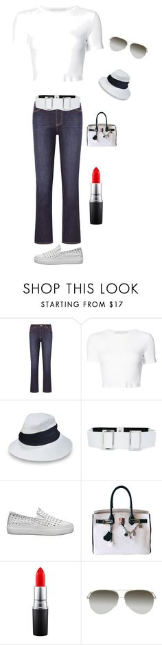 """""""Spring Casual"""" by kotnourka ❤ liked on Polyvore featuring Tory Burch, Rosetta Getty, Eugenia Kim, Erika Cavallini Semi-Couture, Hermès, MAC Cosmetics and Victoria Beckham"""