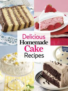 For birthdays, celebrations, and more: 55+ homemade cake recipes: http://www.countryliving.com/cooking/recipes/homemade-cake-recipes-0309 Cake Recipes #dessert