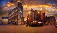 """The night is coming over """"Grote markt"""", Leuven, Belgium by Batistini Gaston, via Flickr"""