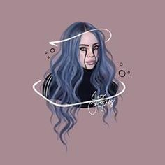 Cute Wallpaper Backgrounds, Aesthetic Iphone Wallpaper, Cute Wallpapers, Billie Eilish, Tumblr Profile Pics, Ariana Grande Drawings, Colored Pencil Artwork, Outline Art, Background Pictures