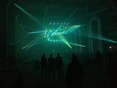 Kinetic audiovisual installation by Christopher Bauder & Robert Henke. 2. - 7.2. CTM Festival - Kraftwerk Berlin.
