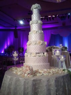 gorgeous, tall wedding cake