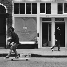 A skateboarder passes by 1327.5 Abbot Kinney, the soon to be 2nd Fluevog store in LA and 20th overall. @americanobscura for @streetvogs