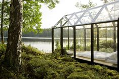 Gestalten  - Kekkliä Garden Shed by Avanto Architects. Uusima, Finland #greenhouseliving #greenhousebedroom