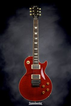 Gibson Custom Limited Edition Alex Lifeson Les Paul Axcess - Royal Crimson   Sweetwater.com