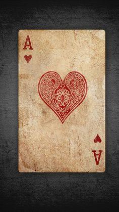 Ace of hearts illustration I Love Heart, Happy Heart, Valentine Heart, Happy Valentines Day, Tarot, Ace Of Hearts, Heart Wallpaper, Love Symbols, Heart Art