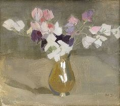 Sweet Peas - Helene Schjerfbeck 1908 Finnish Oil on canvas, 35 x 40 cm. Helene Schjerfbeck, Art And Illustration, Art Floral, Claude Monet, Painting Still Life, Painting Inspiration, Flower Art, Bouquet, Images