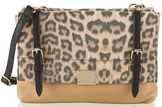 Jessica Simpson Sidney Cross Body Bag NeutralBlackCamel Leopard One Size -- Click image to review more details.