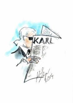 Karl Lagerfeld Sketch - KARL DAILY - http://olschis-world.de/ #KarlLagerfeld #KARLDAILY #sketch