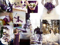 Elegant Purple Winter : PANTONE WEDDING Styleboard : The Dessy Group