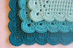 Turquoise Dishcloths by afewlittlebumps on Etsy