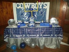 Dallas cowboys party candy/cake table