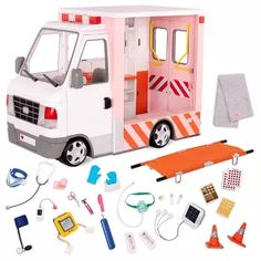 Girl Dolls, Barbie Dolls, Og Dolls, Our Generation Doll Accessories, Poupées Our Generation, American Girl Doll Sets, Wheelchair Accessories, 18 Inch Doll, Ambulance