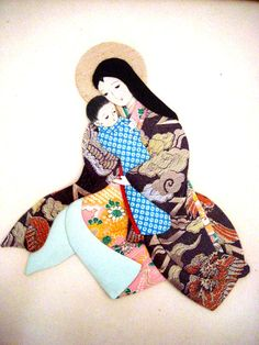 Vintage Japanese Madonna and Child Made With by OmAgainVintage