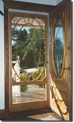 Imagine your home's perfect Custom                         Wood Screen Door