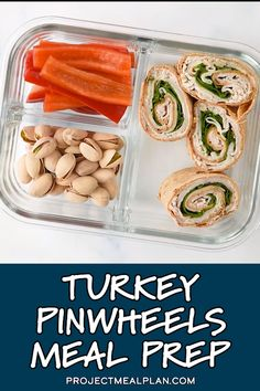 21 Day Fix Meal Plan Discover Turkey Pinwheels Meal Prep Pinwheels are a super simple deli lunch you can easily make at home and turn into meal prep! Check out my tips and how-to VIDEO to help you make the BEST Easy Turkey Pinwheels Meal Prep! Prepped Lunches, Healthy Lunches, Work Lunches, Healthy Meals For Kids, Good Healthy Recipes, Healthy Things To Eat, Easy Kids Meals, Easy Healthy Lunch Ideas, Healthy Camping Meals
