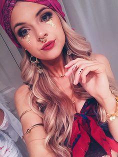 Fortune teller makeup #fortuneteller #fortunetellercostume #gypsy #gypsymakeup #halloween #costume