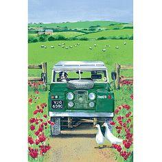 Land Rover Linen Tea Towel