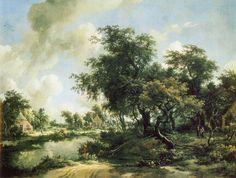 Meindert Hobbema - Boslandschap met rivier