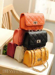 Stylish Korean Style One Shoulder Candy Color Bag.