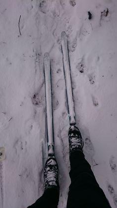 Konečně sníh! Sice málo, ale přece!! Toho je dobré využít a oprášit běžky, alespoň se člověk díky klouzání na hlíně a trávě více nadře. Sporty