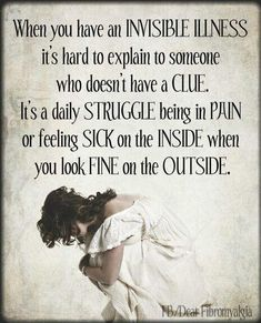 Chronic pain,fibromyalgia, lupus et al. Chronic Migraines, Chronic Illness, Chronic Pain, Rheumatoid Arthritis, Mental Illness, Endometriosis Pain, Illness Quotes, Lupus Awareness, Emotion