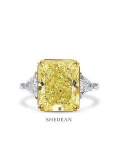 Diamond Ring Cuts, Yellow Diamond Engagement Ring, Cushion Cut Diamond Ring, Cushion Cut Engagement Ring, Diamond Stone, Yellow Stone Rings, 3 Stone Rings, Supply Chain, Dream Ring