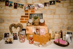 Sweetie table - Pretty Relaxed Lavender Country Wedding http://www.lydiastampsphotography.com/