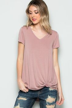 Bottom knot tee