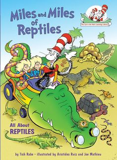 The Cat in the Hat travels the world in his crocodile car to investigate the habitats and characteristics of lizards, snakes, turtles, and unique species of reptiles, such as komodo dragons, chameleons, and frilled lizards.