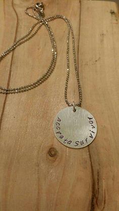 Check out this item in my Etsy shop https://www.etsy.com/ca/listing/266955284/accreta-survivor-necklace-survivor