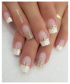 Vintage Wedding Nails, Pink Wedding Nails, Wedding Nails For Bride, Bride Nails, Wedding Nails Design, Pink Nails, French Wedding, White Acrylic Nails, Stiletto Nail Art