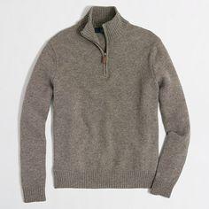J.Crew Factory - Factory lambswool half-zip sweater
