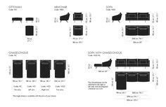 New Costura sofa, a Jon Gasca design: armchair, ottoman, sofa and sofa with chaiselongue