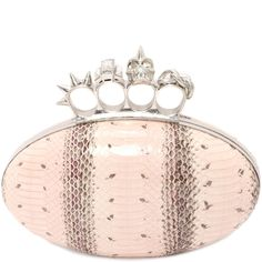 Shop Women's Snakeskin Knuckle Oval Clutch from the official online store  of iconic fashion designer Alexander McQueen.