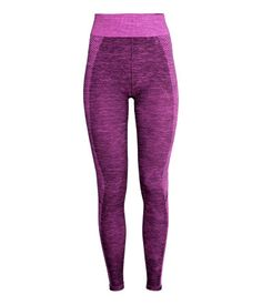 Jacquard-knit base layer tights in fast-drying, functional fabric with an elasticized waistband. Fitness Fashion, Fitness Style, Workout Gear, Workout Fitness, H&m Online, Gym Time, Fashion Online, Body Mapping, Sportswear