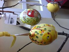 Just in time for Easter! Spring egg decorations hand painted in Austria. $7.50
