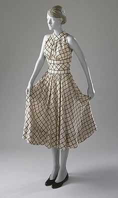 Claire McCardell Check Dress 1954