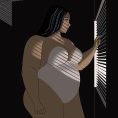 plus size art Black Love Art, Black Girl Art, Art Girl, Art Beauté, Character Art, Character Design, Plus Size Art, Fat Art, Black Artwork