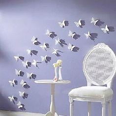 3d muur stickers vliegende vlinder acryl wasbaar muur stickers set van 12 - EUR € 14.54