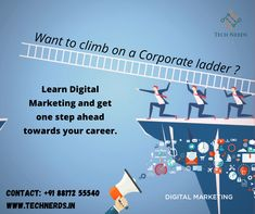 Learn Digital Marketing and get one step ahead towards your careerin corporate Best Digital Marketing Company, First Step, Get One, Career, Nerd, Public, Learning, Carrera, Studying