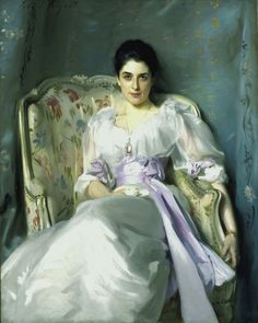 Famous artist and portrait painter John Singer Sargent was known for painting wealthy aristocrats as well as the controversial painting: Madame X. Other oil portraits by John Singer Sargent include the famous Lady Agnew of Lochnaw. John Singer Sargent, Sargent Art, The Age Of Innocence, Illustration Art, Illustrations, Beautiful Paintings, Oeuvre D'art, American Artists, Monet