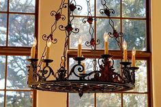 Wrought Iron Chandeliers, Red Rooms, Ceiling Lights, Elegant, Lighting, Luxury, Home Decor, Ideas, Classy