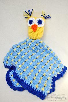 Crochet Owl Blanket Lovey - Free Pattern!