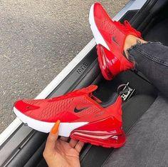 Air 270 Red/Black - Sneakers Nike - Ideas of Sneakers Nike - Air 270 Red/Black . Moda Sneakers, Cute Sneakers, Sneakers Mode, Sneakers Fashion, Yeezy Sneakers, Ootd Fashion, Men Fashion, Fashion Shoes, Converse Fashion