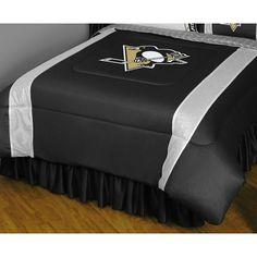 Pittsburgh Penguins Comforter - Full/Queen, Black