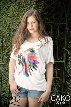 #CAKOTEAM #CAKO #Ladies #Indian #Wolf #Slouch #Tee #T #print #burstofcolour #sun #Magic #Fashion #SS13 #Lookbook